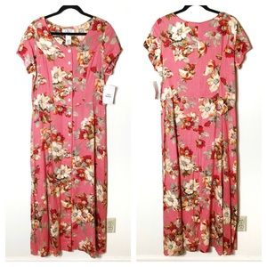 Vintage Clues Collection Floral Print Midi Dress